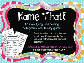 NAME THAT! A category game
