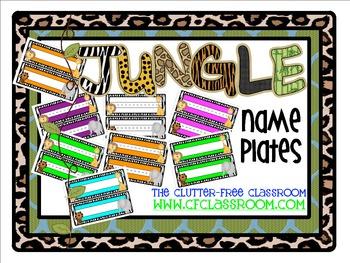NAMEPLATES for a JUNGLE ~ SAFARI CLASSROOM THEME