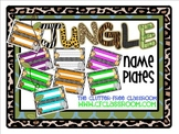 NAMEPLATES for a JUNGLE ~ SAFARI CLASSROOM THEME