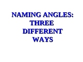 NAMING ANGLES PPT.