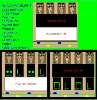 "NANNY GOAT ~ Prep/Practice Ti TI ~ Prep/Practice ""la""~ Game~ Smartboard"