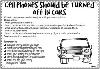 Persuasive Texts - 22 Writing tasks (NAPLAN)