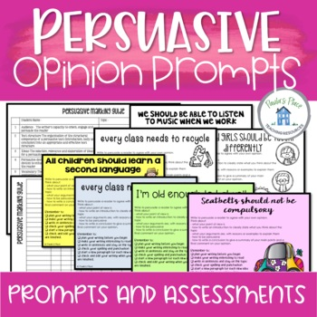 Persuasive and Opinion Writing Prompts