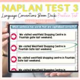 NAPLAN ENGLISH ONLINE GRAMMAR & PUNCTUATION: TEST 3 BOOM D