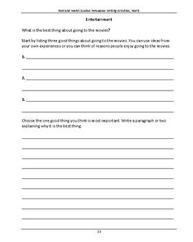 NAPLAN LITERACY SKILLS Best & Worst: Guided Persuasive Writing Activities Year 5