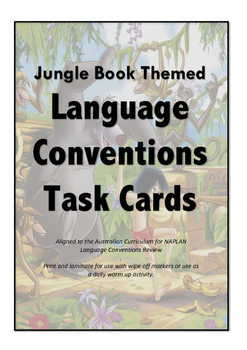 NAPLAN Language Conventions Review Task Cards - Jungle Book Theme