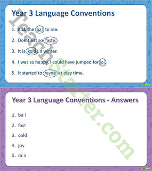 NAPLAN - Language Conventions - Spelling Pack (Year 3)
