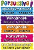 Persuasive Writing Posters ~ ideal also for Naplan