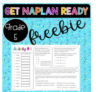 FREEBIE NAPLAN Preparation Year 5