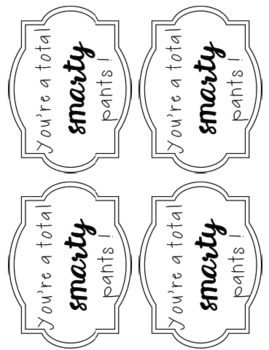 NAPLAN Smarty Pants Gift Tag *FREEBIE*