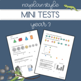 Digital and Printable | NAPLAN Style Mini Tests | Year 3 Numeracy