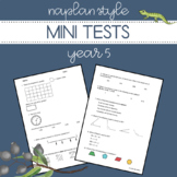 Digital and printable | NAPLAN Style Mini Tests | Year 5 Numeracy