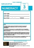 NAPLAN Style - NUMERACY - Year 3 - Test1
