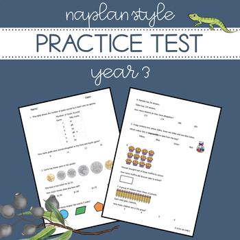 NAPLAN Style Practice Test - Year 3 Numeracy