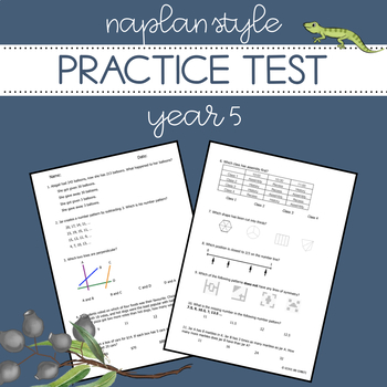 NAPLAN Style Practice Test - Year 5 Numeracy