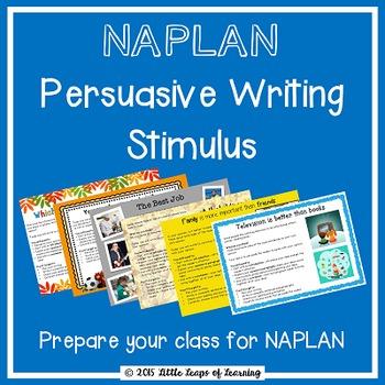 NAPLAN Writing Stimulus for Persuasive