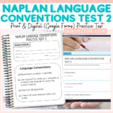 NAPLAN TESTING LANGUAGE CONVENTIONS PRACTICE TEST 2 (PRINT)