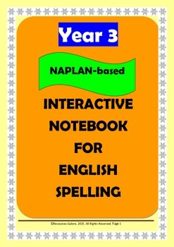 NAPLAN: Year 3 Interactive Notebook for Spelling