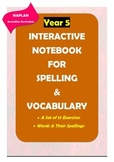 Distance Learning: NAPLAN: Year 5 Spelling & Vocabulary Interactive Notebook