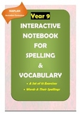 Distance Learning: NAPLAN Year 9: Interactive Notebook for Spelling & Vocabulary