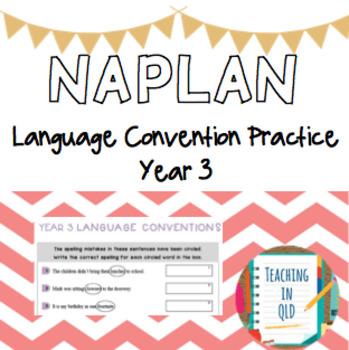 NAPLAN Yr3 Language Convention Practice Test #term2thankyou
