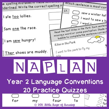 NAPLAN style Language Conventions Quizzes: Year 2