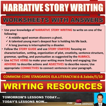 NARRATIVE STORY WRITING TASK CARDS