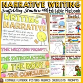 NARRATIVE WRITING: FLIPBOOK/INTERACTIVE NOTEBOOK ORGANIZER: EDITABLE