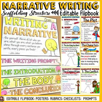 NARRATIVE WRITING: FLIPBOOK/INTERACTIVE NOTEBOOK ORGANIZER