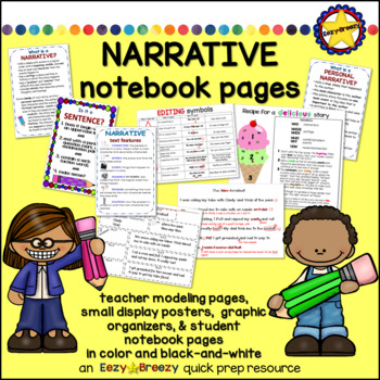 NARRATIVE WRITING student notebook pages