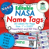 NASA Editable Classroom Labels, Folder, Name Tags (Avery 5163)