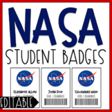 NASA Student Badges | EDITABLE