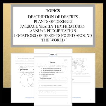 NASA Webquest: Deserts