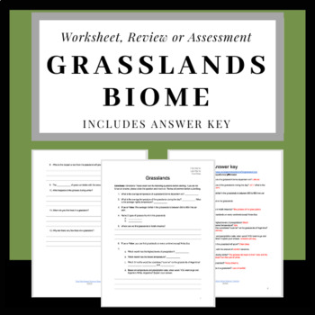 NASA Webquest: Grasslands Biome