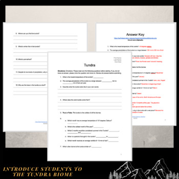 NASA Webquest: Tundra Biome