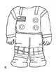 NASA astronaut suit to color and assemble