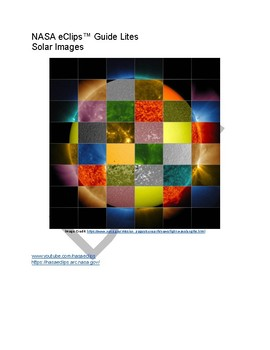 NASA eClips™ Guide Lites Solar Images