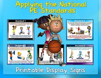 Applying the PE Standards- Printable Display Signs