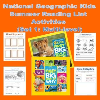 NATGEO Reading List Companion Activities - Multi-Level List