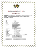 NATIONAL AUTHOR'S DAY- NOVEMBER 1ST -WORD JUMBLE PUZZLE