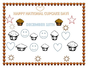 NATIONAL CUPCAKE DAY- DECEMBER 15TH COLORING PAGE
