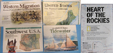 MAP GEOGRAPHY ROCKIES WESTERN MIGRATION TIDEWATER SOUTHWEST USA PHYSICAL history