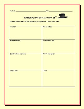 NATIONAL HAT DAY: AN ART ACTIVITY