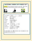 NATIONAL PANDA DAY: A VOCABULARY WORD JUMBLE/ PUZZLE