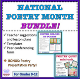 NATIONAL POETRY MONTH BUNDLE! Poetry writing, templates, a