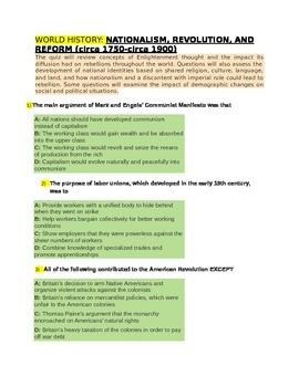 NATIONALISM, REVOLUTION for 4th Grade