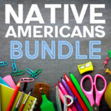 NATIVE AMERICAN Coloring Pages and Research Projects BUNDLE