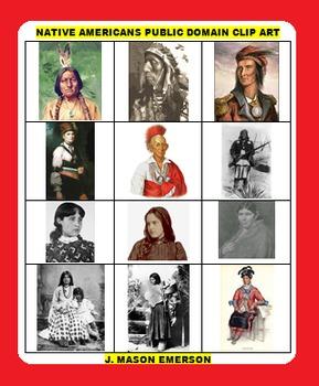 NATIVE AMERICAN PUBLIC DOMAIN CLIP ART (258+ images)