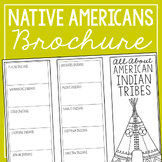 NATIVE AMERICAN TRIBES Research Brochure Template, America