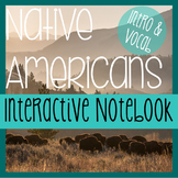 NATIVE AMERICANS- Social Studies Notebooking- Intro & Voca